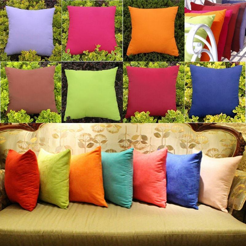new candy colors sofa home bed decorative throw pillow case