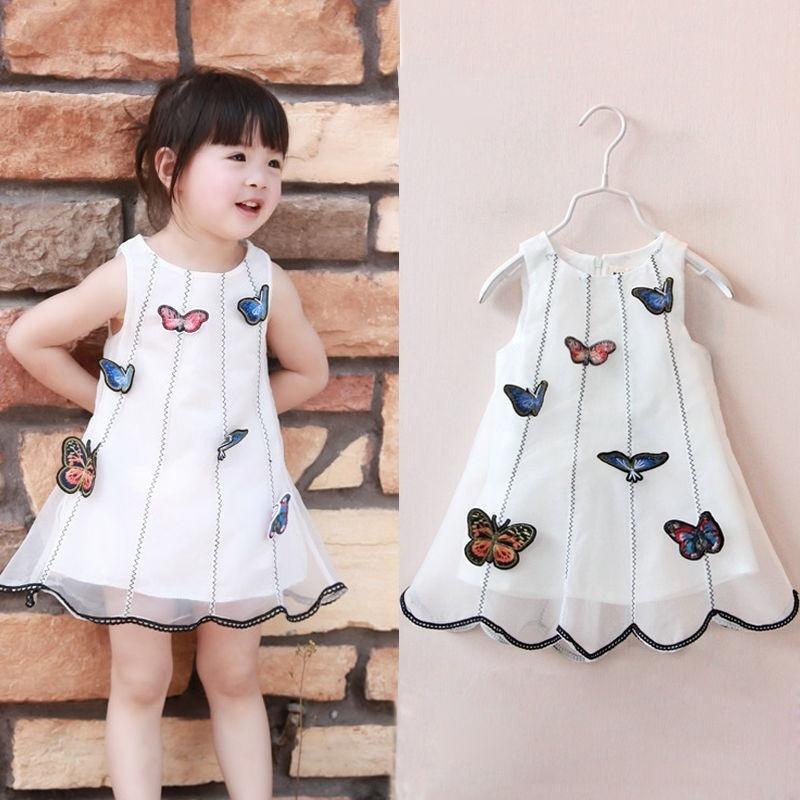 Шикарные конкурс дети детские формальных платья Бабочка платье партии для девочек платья для девочек