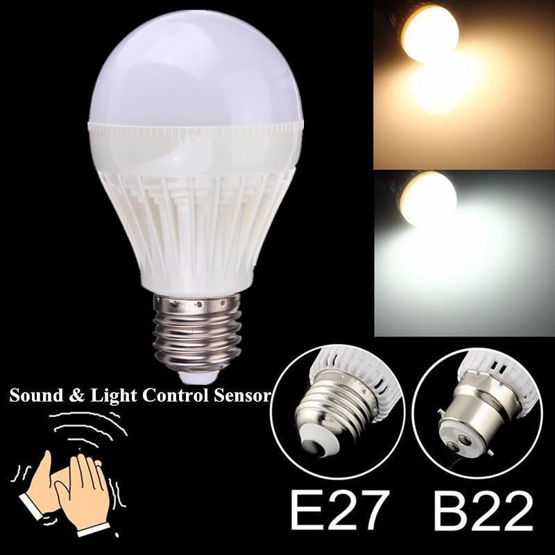 B22/E27 5W SMD 2835 звуковой датчик света светодиодная лампа глобус 220-240V светодиодная лампа no name 59 smd e27 230v 6 5w
