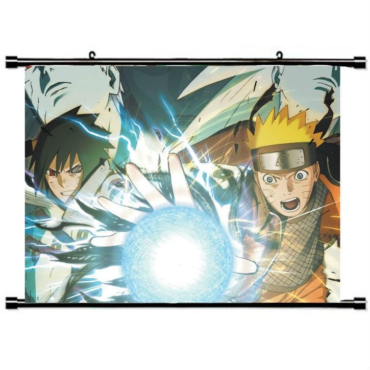 Декор стен Cool аниме Naruto водонепроницаемый прокрутки живопись декор для стен