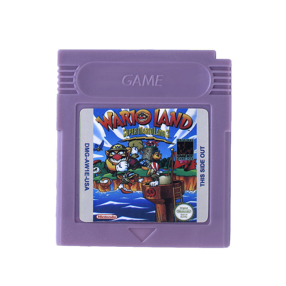 Wario земли Супер Марио игра мальчик Цвет GBC/GB/GBA/SP видеоигр картридж только ламинатор gbc fusion 1000l a4 black
