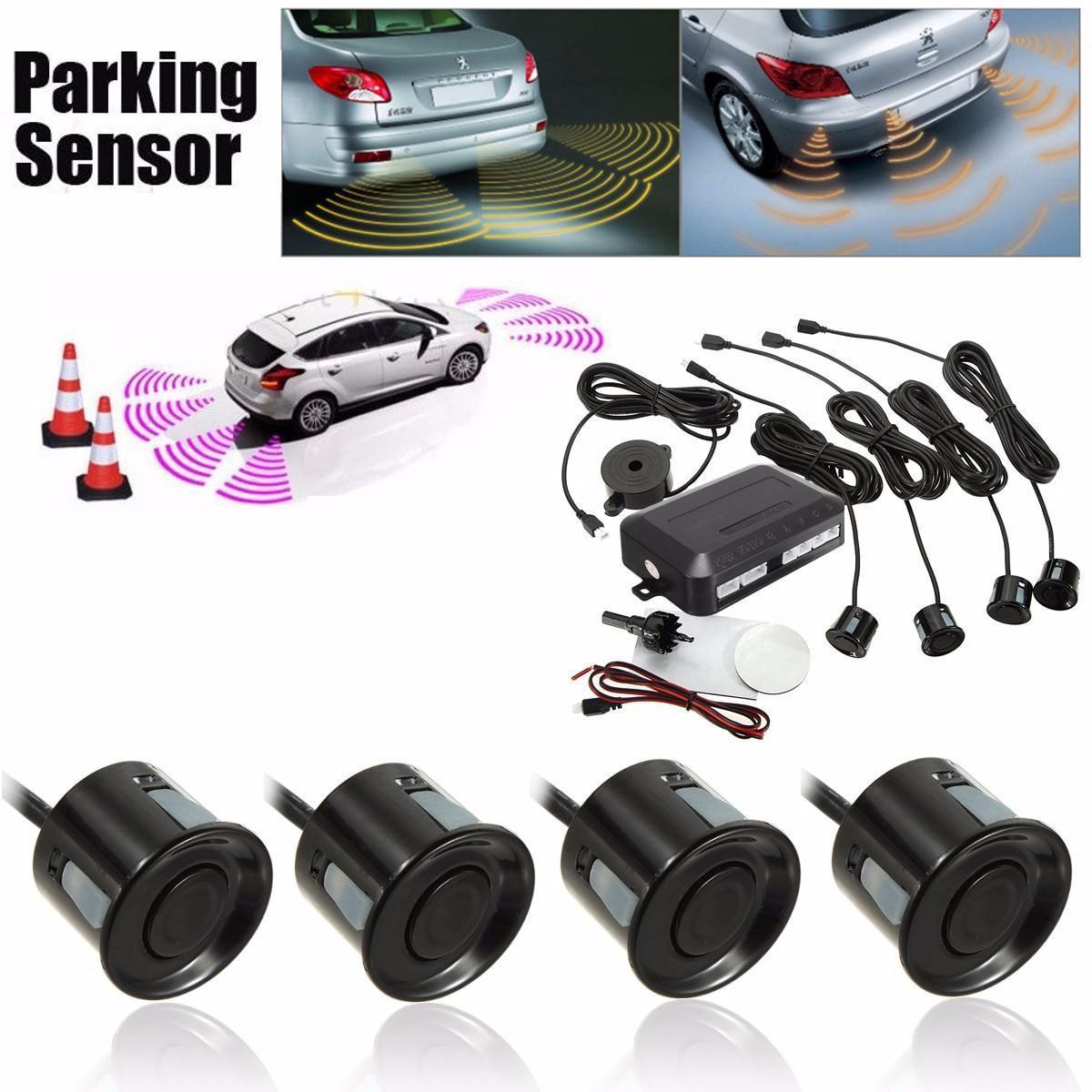 4 парковка датчики автомобиля обратный резервного заднего радар системы звук звуковой сигнал опов... 4 датчики парковки автомобилей резервного обратный радар заднего зуммер сигнализации