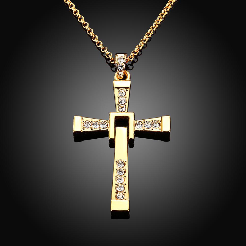 Быстрый и яростный кристалл крест ожерелья Мужские & кулоны для мужчин ожерелье