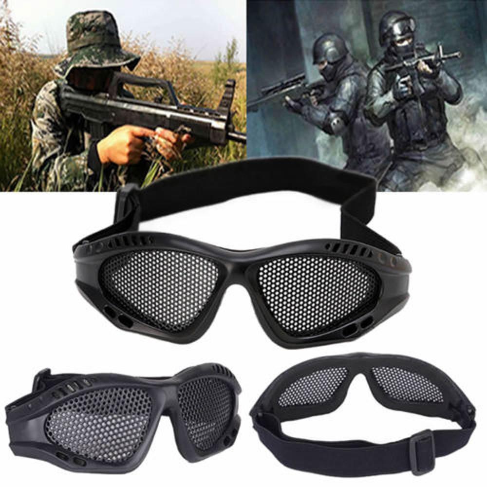 Очки защитные металлические сетки тактические прочный Открытый глаз очки аксессуар очки защитные truper t 10813