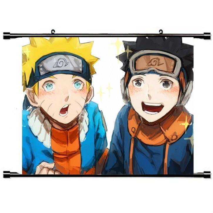 Милые аниме Naruto прокрутки живопись, Декор стен декор для стен