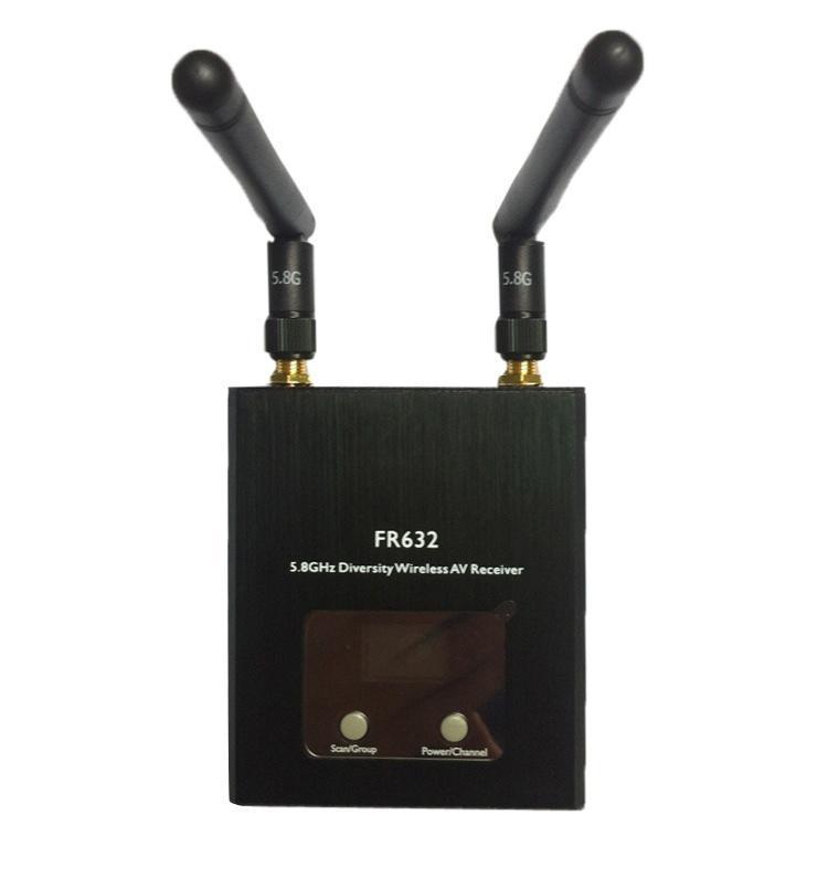 Boscam FR632 разнообразия 5,8 ГГц 32CH Auto Scan LCD A / V ресивер питания литой диск replica fr lx 98 8 5x20 5x150 d110 2 et54 gmf