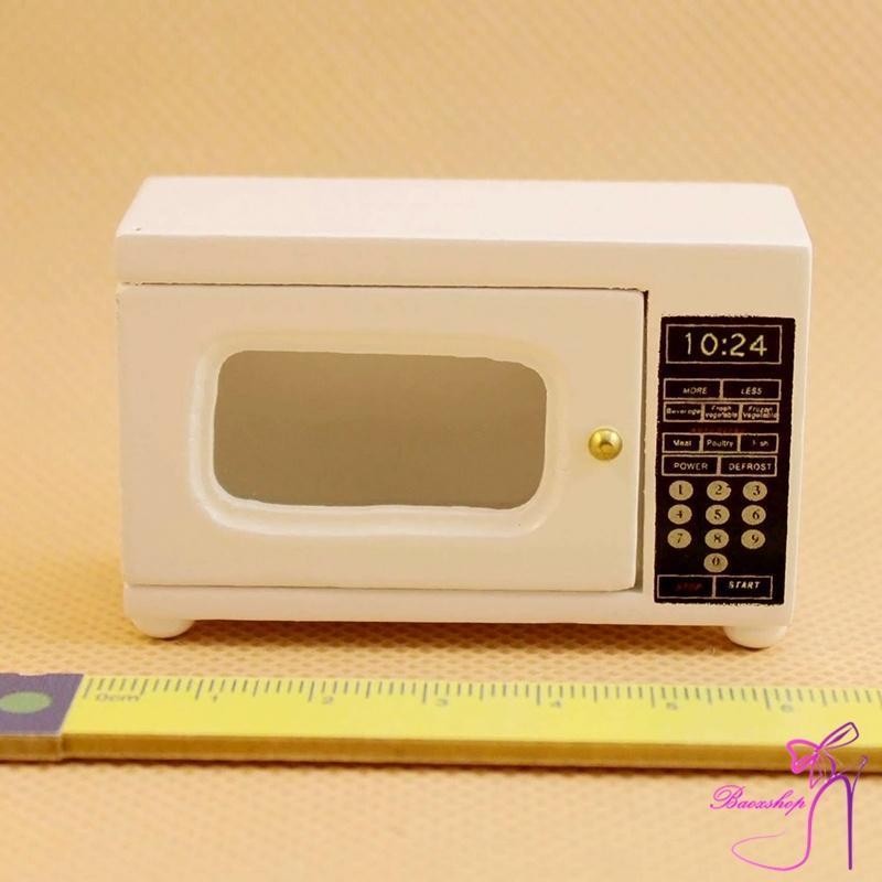 Стильная Dollhouse миниатюрная мебель кухня аксессуар древесины Микроволновая печь 1:12 микроволновая печь rolsen mg2590sa mg2590sa
