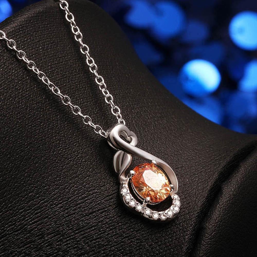 Знаменитости Мода циркона кулон серебро покрытием брелок ожерелье падение популярной в женщин & д... знаменитости в челябинске