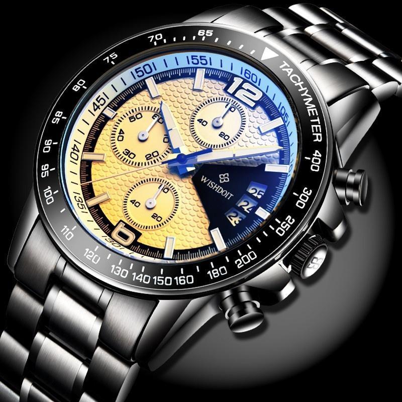 Мужские Часы кварцевые часы Мужские Спортивные водонепроницаемые часы стали