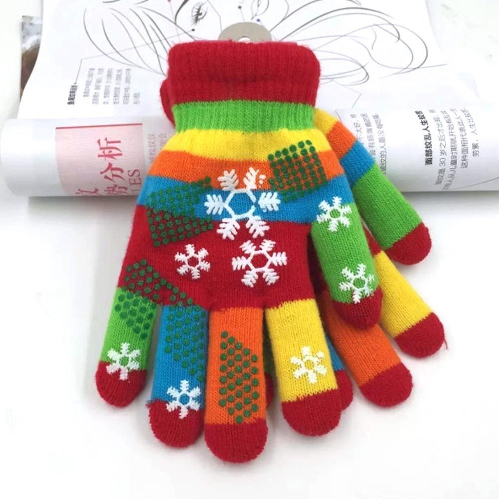 Новые взрослые дети мальчики девочки снежинка Перчатки трикотажные перчатки перчатки stella перчатки