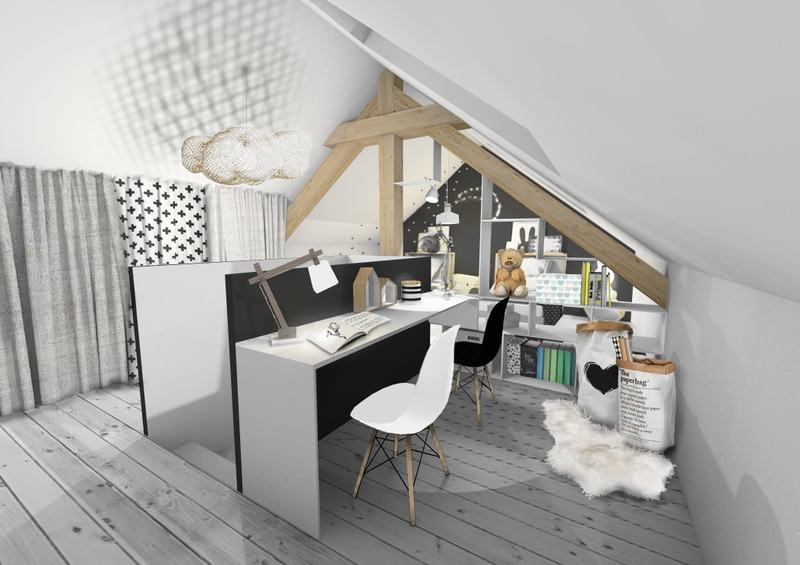 une chambre d 39 enfants scandinave revisit e comme un dortoir. Black Bedroom Furniture Sets. Home Design Ideas