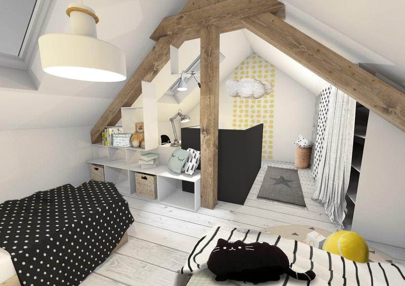 une chambre d 39 enfants scandinave revisit e comme un dortoir. Black Bedroom Furniture Sets. Home Design Ideas