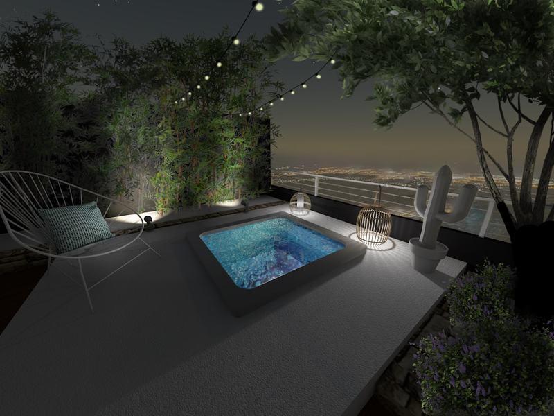 Un petit spa pour profiter de la terrasse même la nuit !