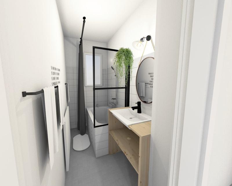 une petite salle de bain moderne