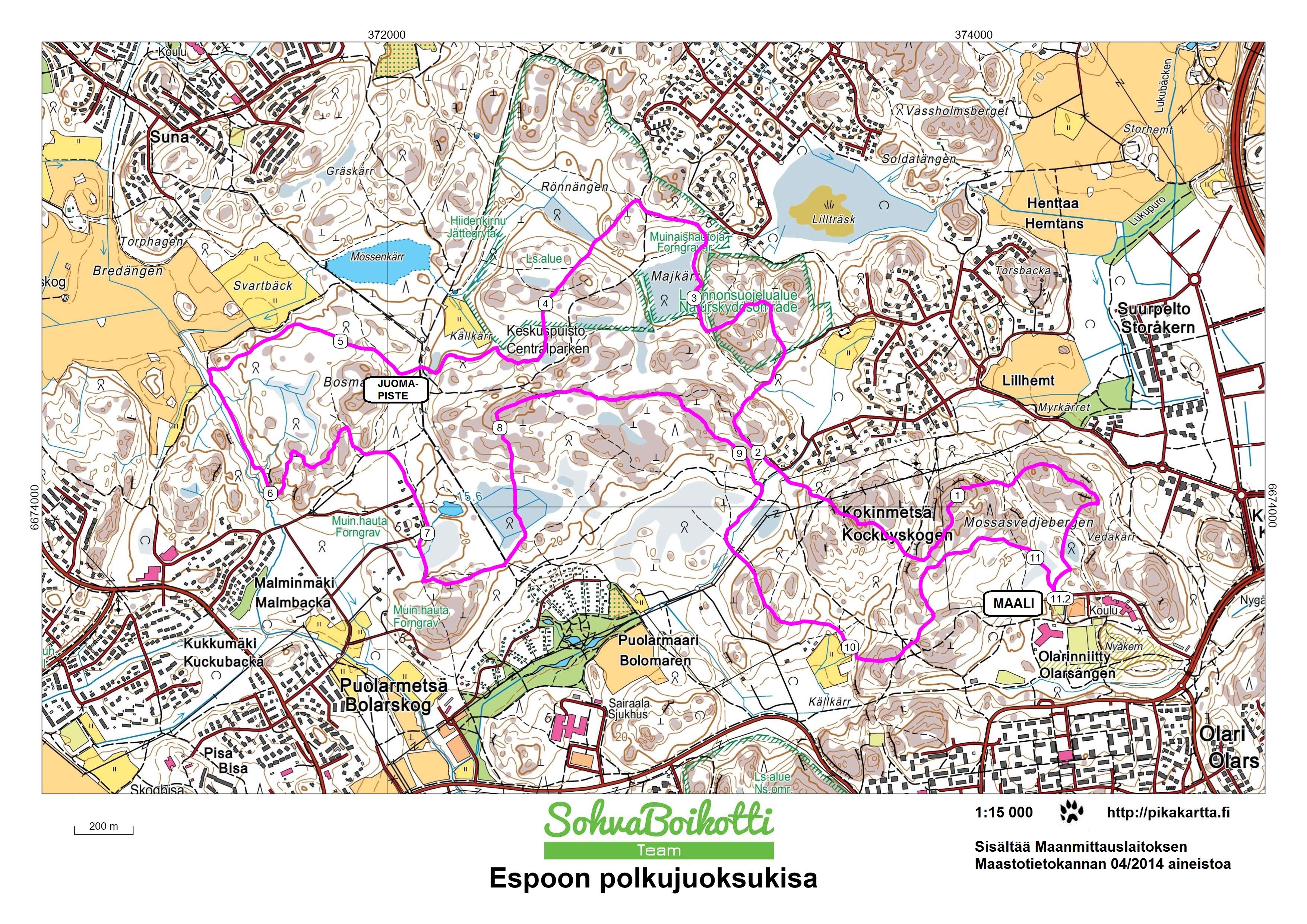 Espoon Keskuspuisto Trail Run 2016 Polkujuoksut Juoksufoorumi Fi
