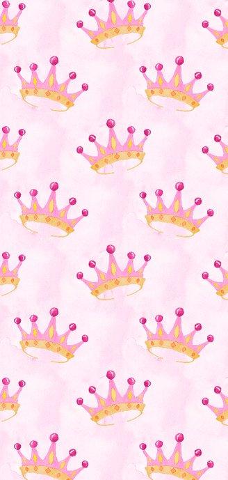 Geboortekaart-enkel kroontje roze Achterkant