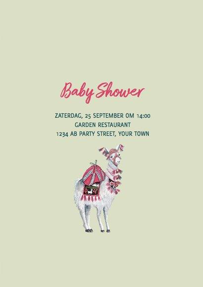 Baby Shower uitnodiging Lama  3
