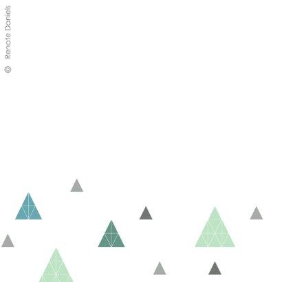 Geometrische kerstbomen patroon groen 2