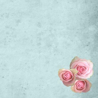 Huwelijksjubileum vintage foto's boekje rozen 3