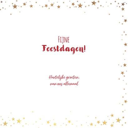 Kerst stijlvolle rode kaart met goudkleurige wereldbol 3