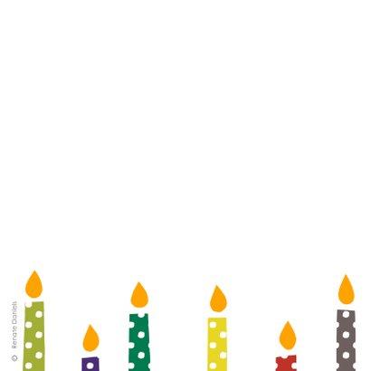 Kerstkaarsen met stippen 2