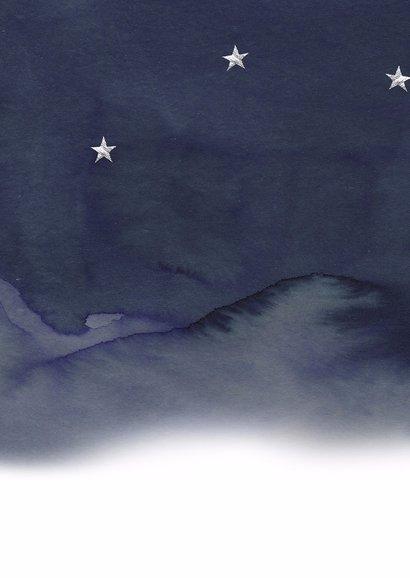 Kerstkaart foto nacht sterren 2