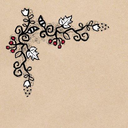 Kerstkaart kerst & bloemen - MW 2