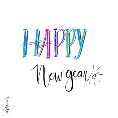 Nieuwjaar handlettering wit - HR 2