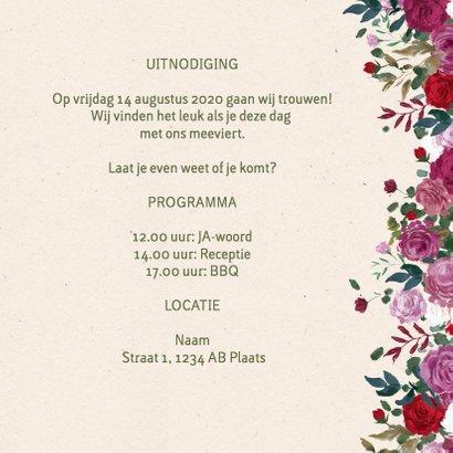 Trouwkaart rozen mét foto 3