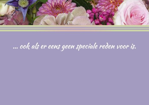 Bloemen roze luxe najaarsboeket 2