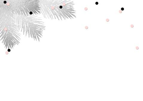 Kerstkaart aquarel confetti foto 2
