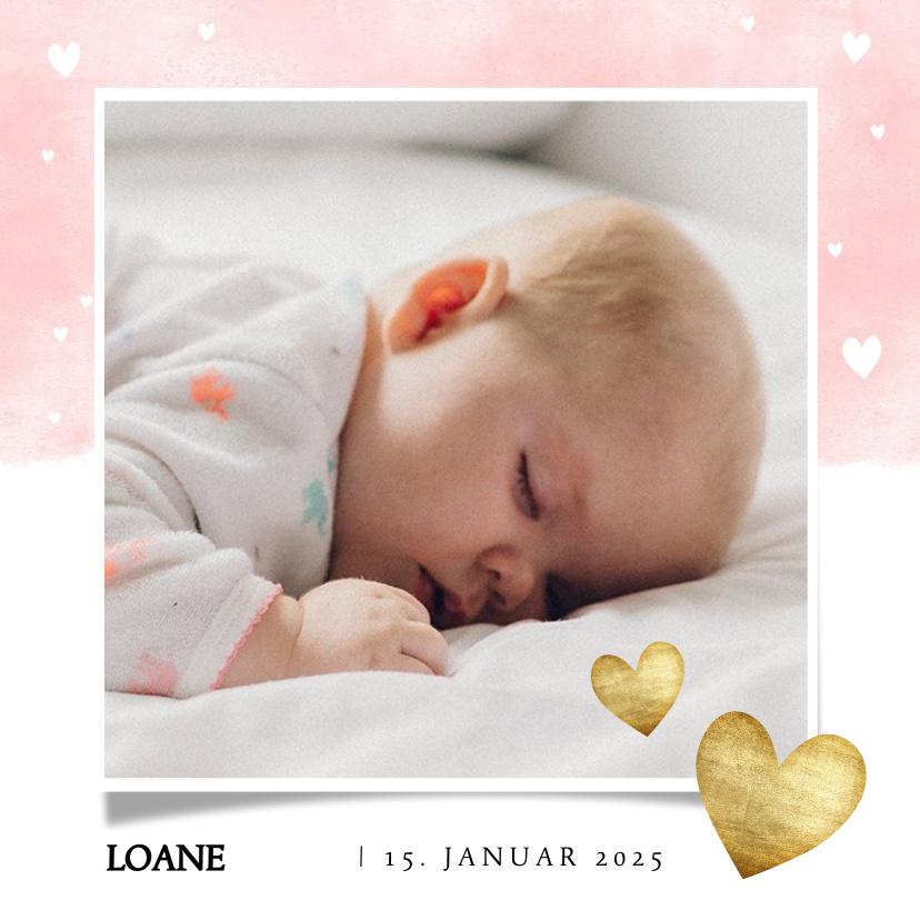 Vorname Loane als Geburtskarte