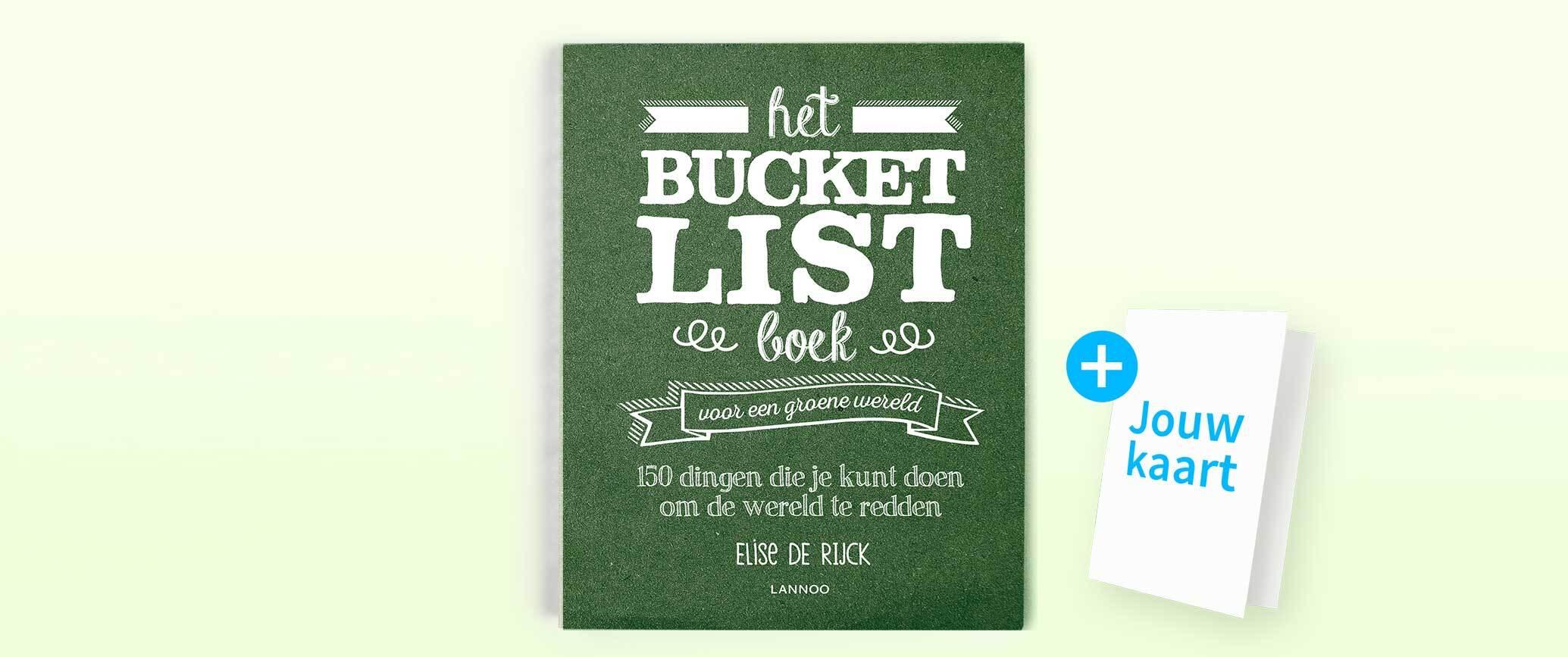 Bucketlist boek voor een groene wereld