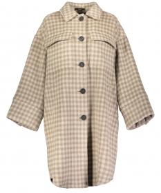 Mantel mit Karomuster