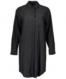 Dress, overshirt style, cuffed slee
