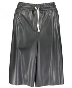 Bermuda Shorts aus veganem Leder
