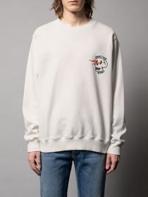 Sweatshirt Lasse Shake Your Bones Chalk White