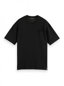 Lockeres Strick-T-Shirt aus Baumwollmischung