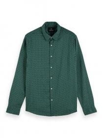 Bedrucktes Shirt aus Bio-Baumwoll-Popeline