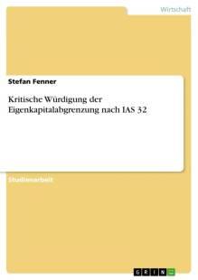 kritische wurdigung der eigenkapitalabgrenzung nach ias 32 pdf