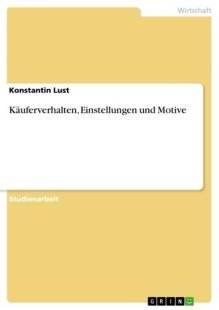 kauferverhalten einstellungen und motive pdf