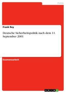 deutsche sicherheitspolitik nach dem 11 september 2001 pdf