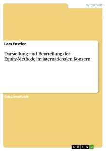darstellung und beurteilung der equity methode im internationalen konzern pdf
