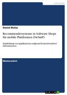 recommendersysteme in software shops fur mobile plattformen pdf