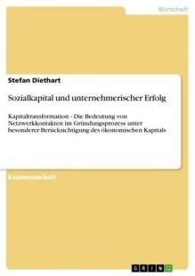 sozialkapital und unternehmerischer erfolg pdf