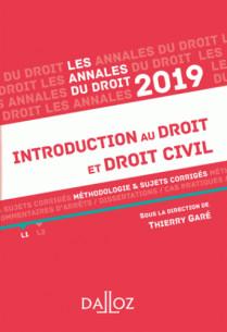 annales introduction au droit et droit civil 2019 methodologie and sujets corriges pdf