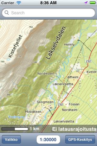 Karttaselaimeen Norjan maastokartta ja muita lisäpalveluja, ilmaiseksi!