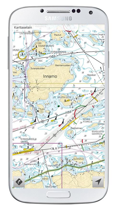 Karttaselaimen Android-versioon merikartat