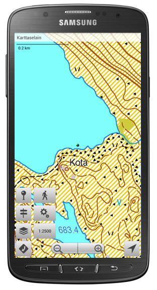 Karttaselaimen Android-version päivitys parantaa sovelluksen suorituskykyä ja kartta-aineistojen tarkkuutta