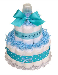 Small diaper cake its a boy lrg